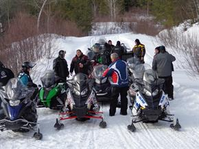 Windigo outfitters Snowmobile group