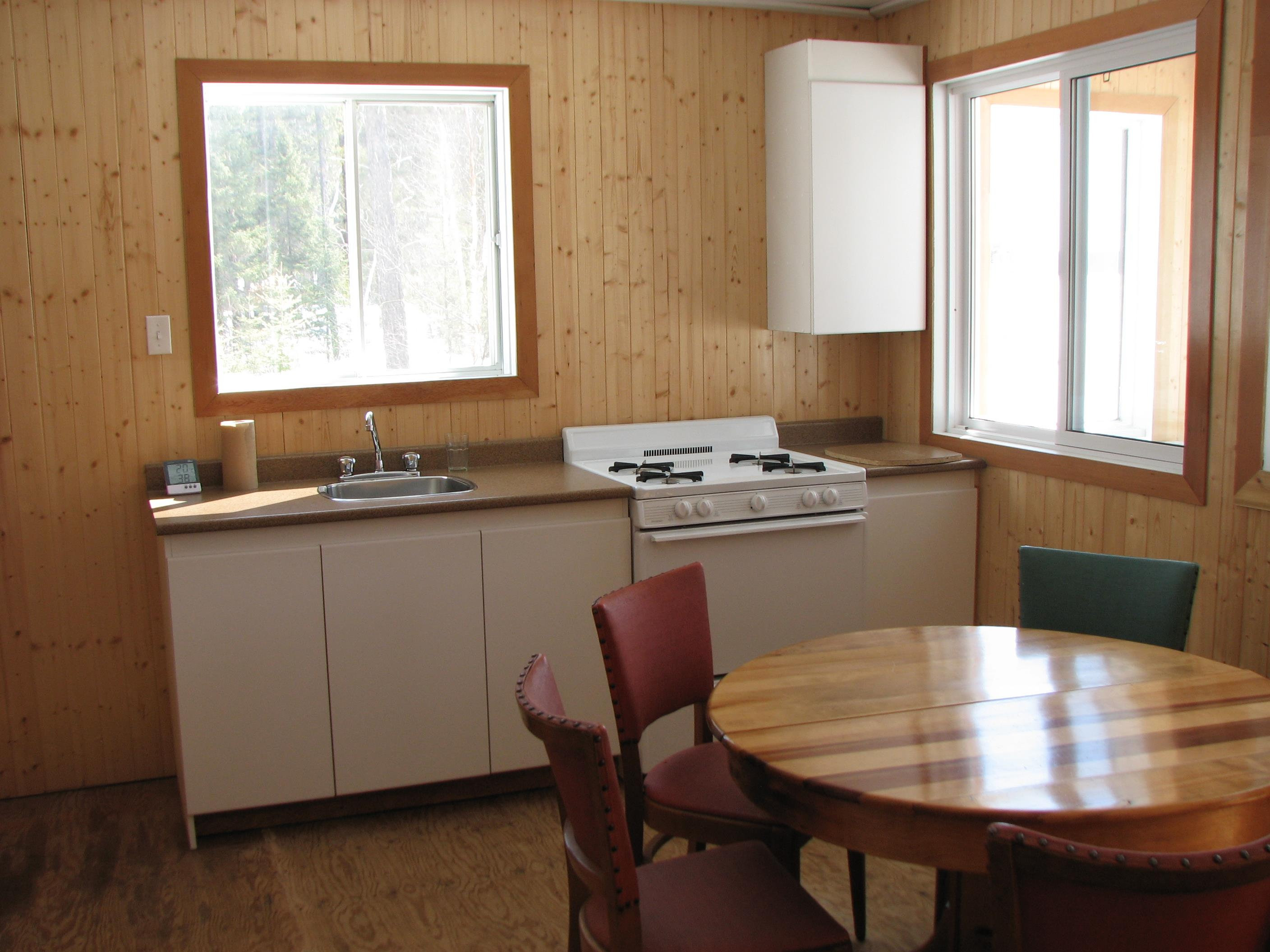 Chalets kitchen at windigo